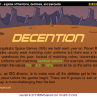 DECENTION, a game of fractions, decimals, and percents