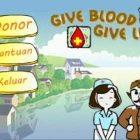 "Bermain ""Give Blood, Give Life"", Cara Mudah Memahami Proses Donor Darah"