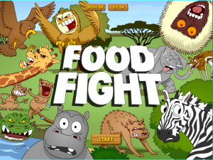 "Gambar 1. Tampilan Awal Game ""Food Fight"""