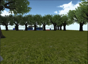 Lapangan Futsal PLN ITS Dalam Simulasi