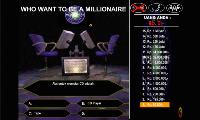 Who Want To Be A Millionaire Game Edukasigame Edukasi