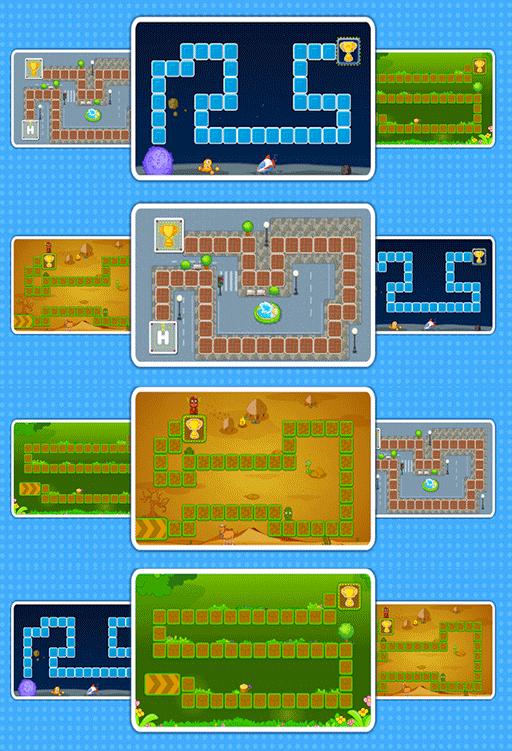 Empat buah peta permainan yang dpat dipilih